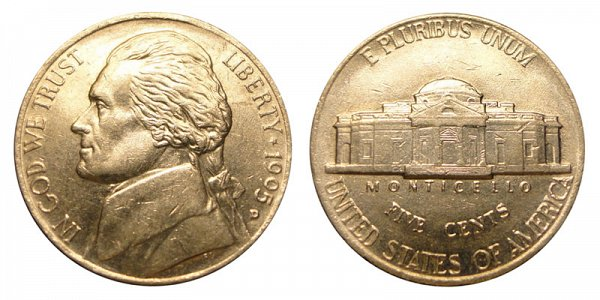 1995 D Jefferson Nickel