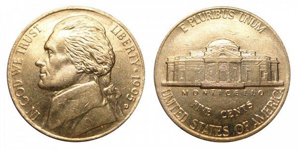1995 D Jefferson Nickel