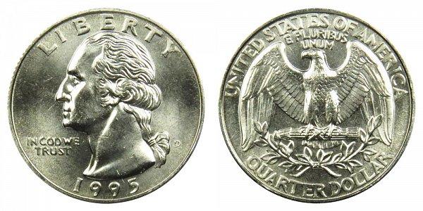 1995 D Washington Quarter