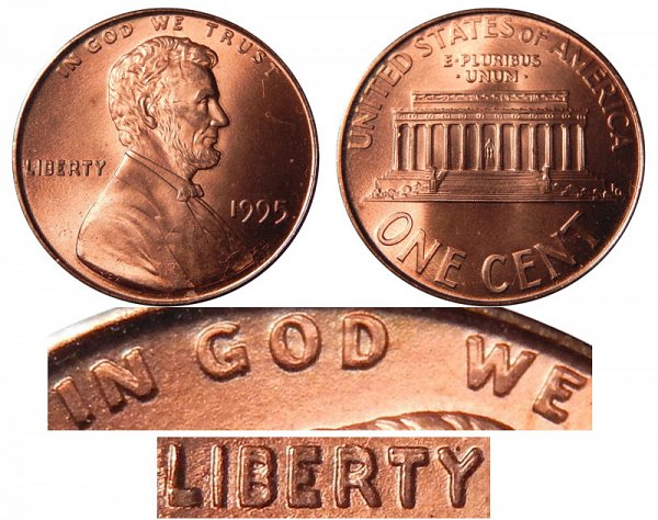 1995 Doubled Die Lincoln Memorial Cent Penny