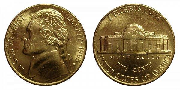 1995 P Jefferson Nickel
