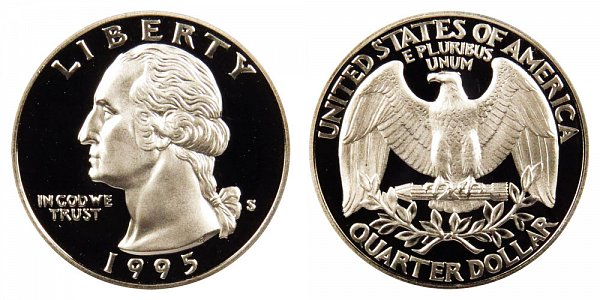 1995 S Silver Washington Quarter Proof