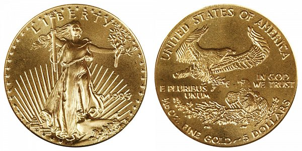 1995 Tenth Ounce American Gold Eagle - 1/10 oz Gold $5