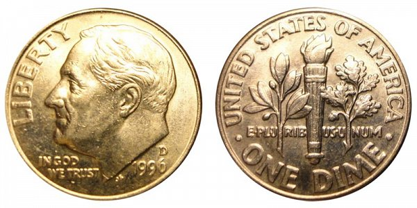 1996 D Roosevelt Dime