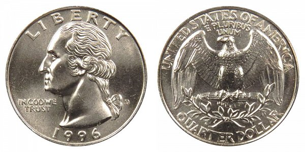 1996 D Washington Quarter