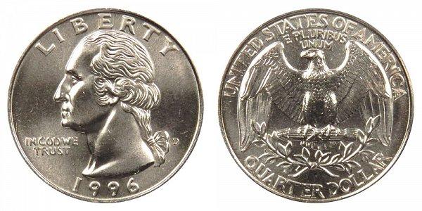 1996 D Washington Quarter