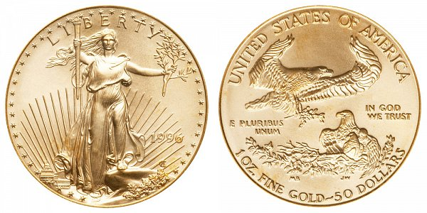 1996 One Ounce American Gold Eagle - 1 oz Gold $50