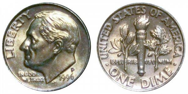 1996 P Roosevelt Dime