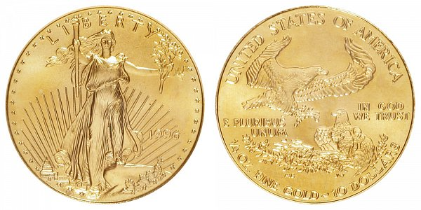 1996 Quarter Ounce American Gold Eagle - 1/4 oz Gold $10