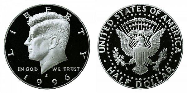 1996 S Silver Kennedy Half Dollar Proof