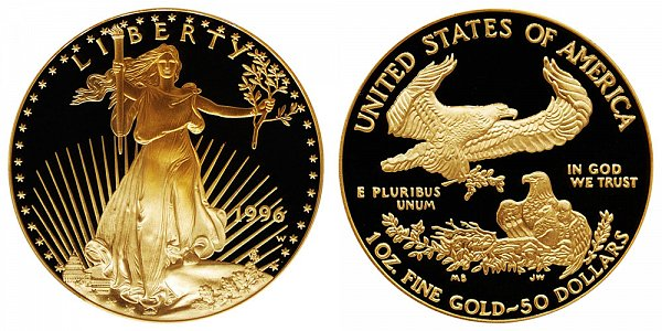 1996 W Proof One Ounce American Gold Eagle - 1 oz Gold $50