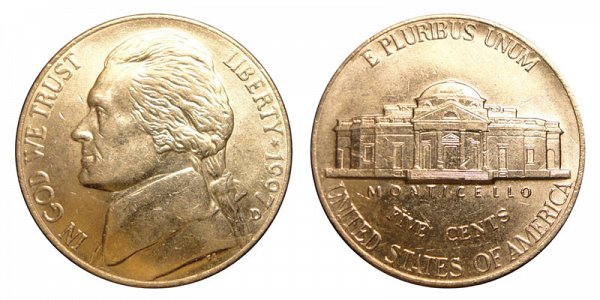 1997 D Jefferson Nickel
