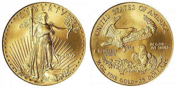 1997 Half Ounce American Gold Eagle - 1/2 oz Gold $25