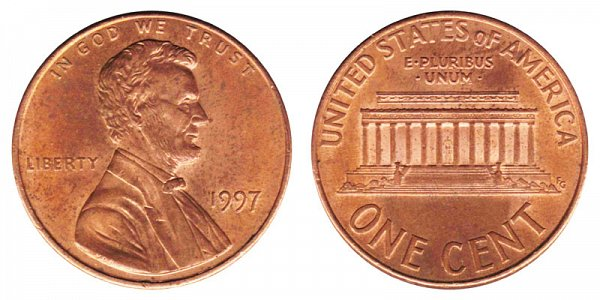 1997 Lincoln Memorial Cent Penny