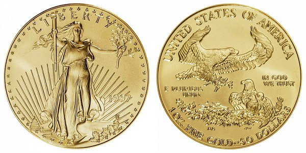 1997 One Ounce American Gold Eagle - 1 oz Gold $50