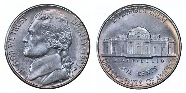 1997 P Jefferson Nickel