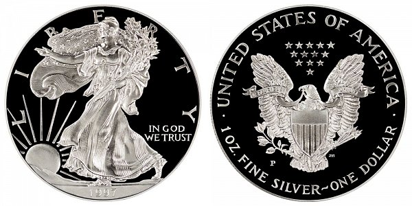 1997 P Proof American Silver Eagle