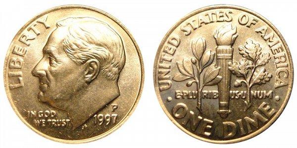 1997 P Roosevelt Dime