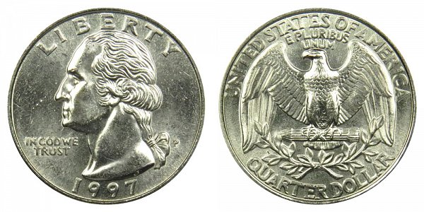 1997 P Washington Quarter