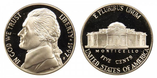 1997 S Jefferson Nickel Proof