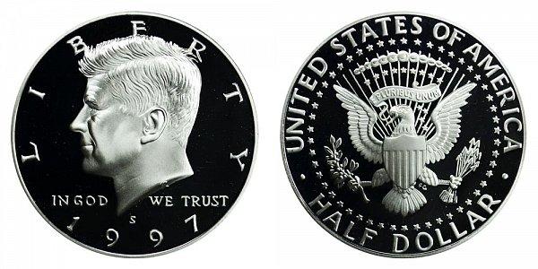 1997 S Silver Kennedy Half Dollar Proof