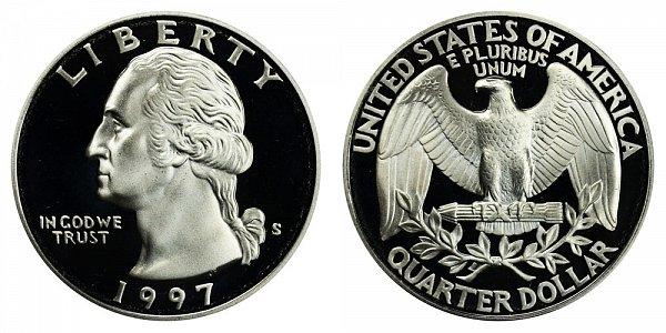 1997 S Washington Quarter Proof