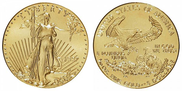 1997 Tenth Ounce American Gold Eagle - 1/10 oz Gold $5