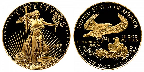 1997 W Proof Tenth Ounce American Gold Eagle - 1/10 oz Gold $5