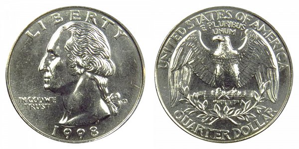 1998 D Washington Quarter