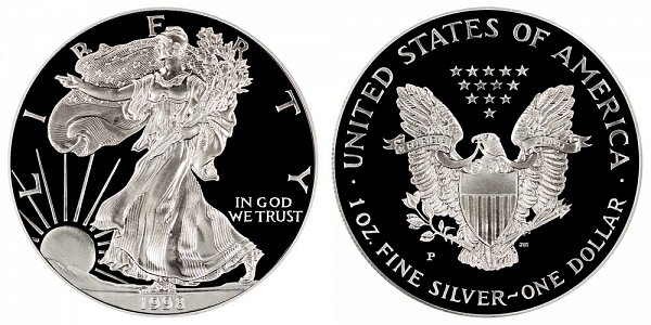1998 P Proof American Silver Eagle