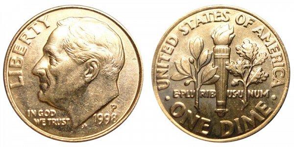 1998 P Roosevelt Dime