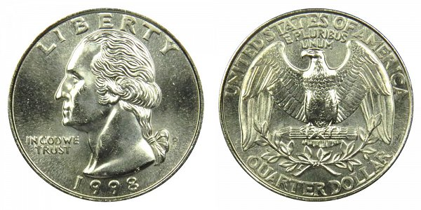 1998 P Washington Quarter