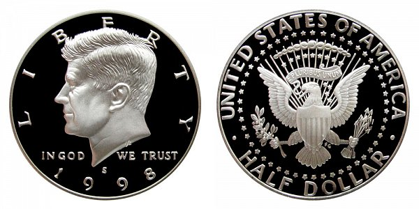 1998 S Silver Kennedy Half Dollar Proof