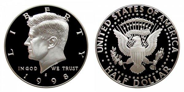 1998 S Silver Kennedy Half Dollar Proof