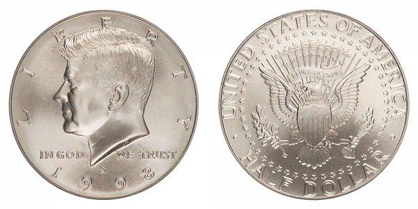 1998 S Silver Matte Finish Kennedy Half Dollar Proof