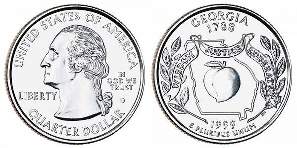 1999 D Georgia State Quarter