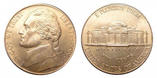 1999 D Jefferson Nickel
