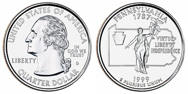 1999 D Pennsylvania State Quarter