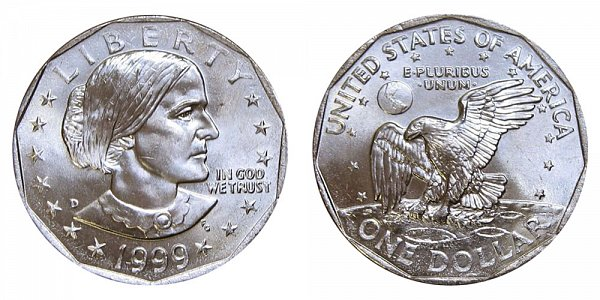1999 D Susan B Anthony SBA Dollar