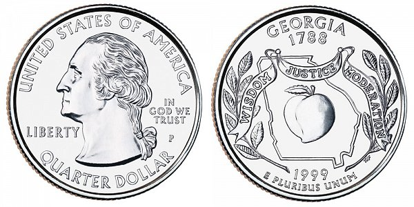 1999 P Georgia State Quarter