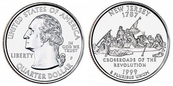 1999 P New Jersey State Quarter