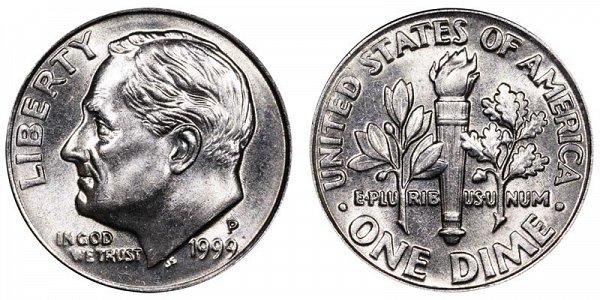 1999 P Roosevelt Dime