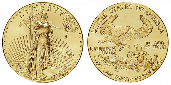 1999 Quarter Ounce American Gold Eagle - 1/4 oz Gold $10