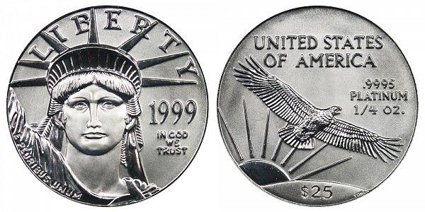 1999 Quarter Ounce American Platinum Eagle - 1/4 oz Platinum $25