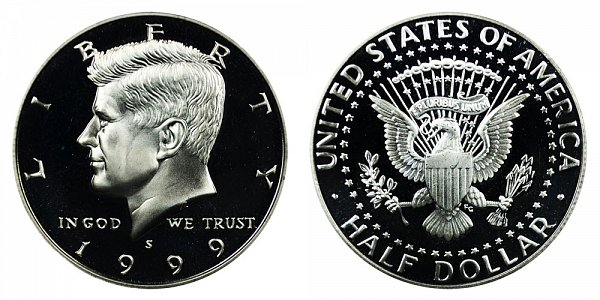 1999 S Silver Kennedy Half Dollar Proof