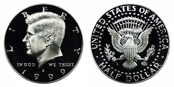 1999 S Silver Kennedy Half Dollar Proof