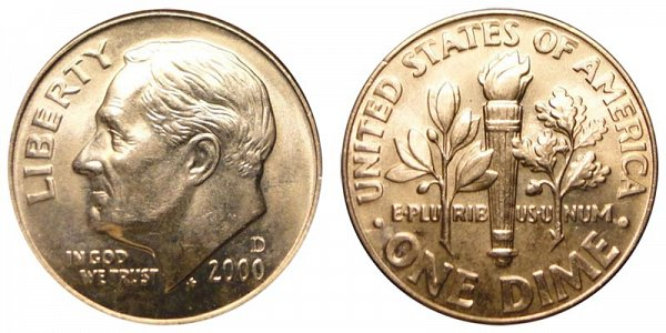 2000 D Roosevelt Dime