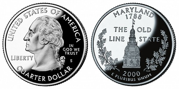 2000 S Proof Maryland State Quarter