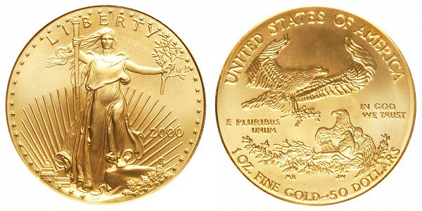 2000 One Ounce American Gold Eagle - 1 oz Gold $50