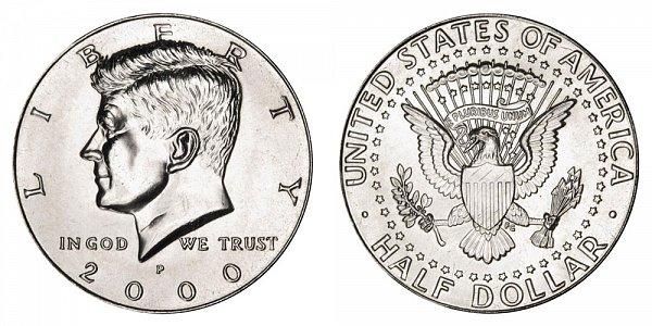 2000 P Kennedy Half Dollar